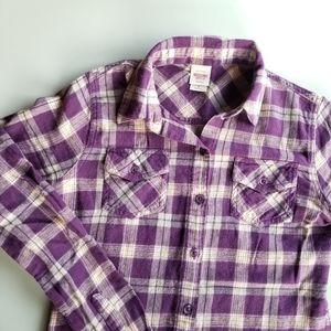 Mossimo Women's Plaid Long Sleeve Shirt, Sz Small